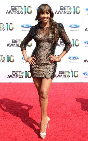 Vivica A. Fox arrives at the 2010 BET Awards held at the Shrine Auditorium on June 27, 2010 in Los Angeles, California.