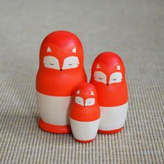 """Les poupées russes """"famille renard"""""""