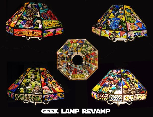 From Boring Kitchen Lamp To Faux Stained Gl Geek Light Diy Decor And Furniture Lamps