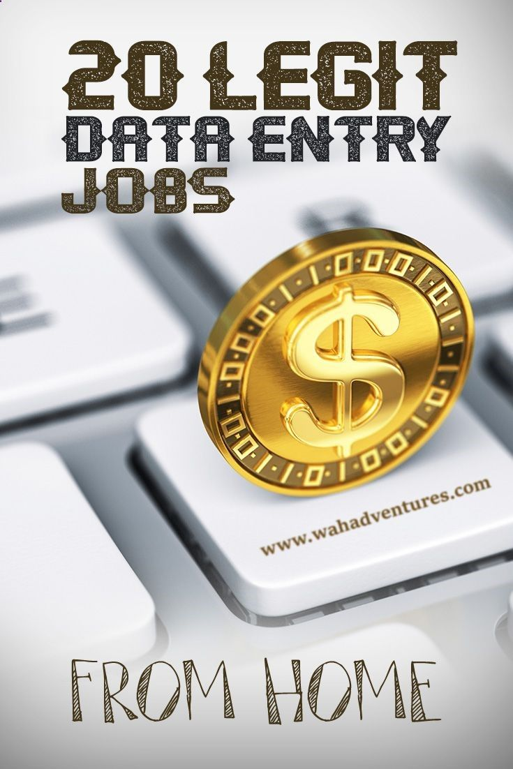Legitimate online data entry jobs can be difficult to weed out from the scams. But, these 20 websites have proven to be legit data entry job sources. via WAHA Adventures - A Work at Home Community