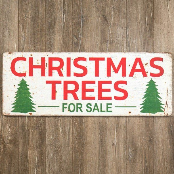 Christmas Trees For Sale Wooden Sign Christmas Tree Sale Vintage Inspired Christmas Christmas Tree Farm