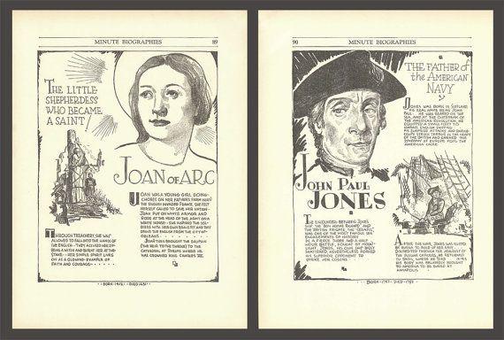 Joan of Arc Print John Paul Jones Art Historical by DigitalArtLand