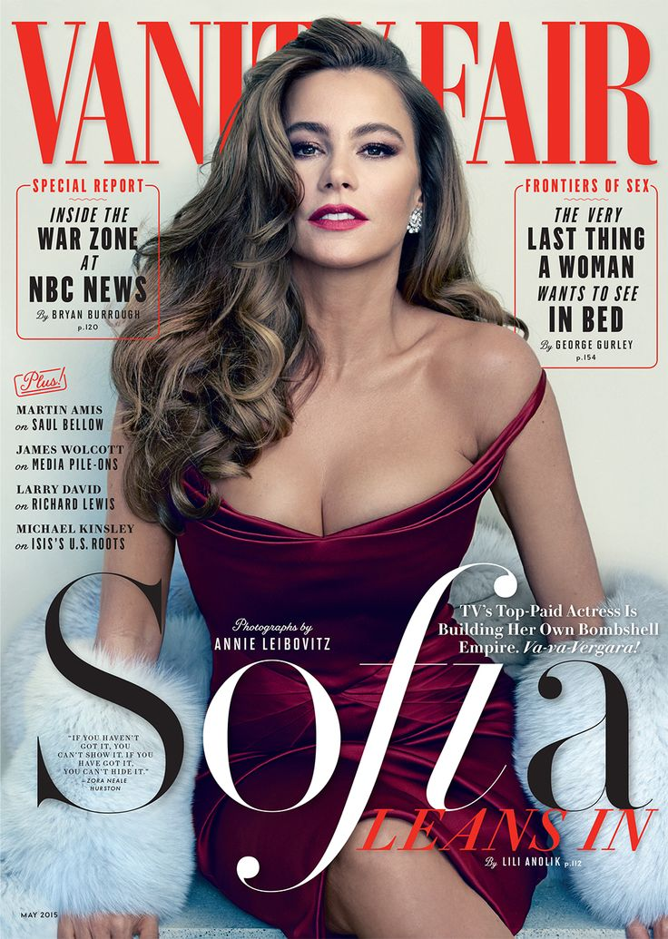 Sofía Vergara, Star of Hot Pursuit, Steams Up Vanity Fair's May 2015 Cover | Vanity Fair Photographed by Annie Leibovitz