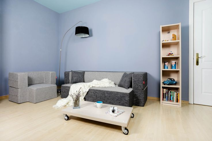 Tiramisu Modular Sofa / Colour: Poppy & Liquorice. Mini-Tiramisu Modular Armchair / Colour: Poppy #modular #sofa #sofabed #cool #comfort #creative #foam #colourful #young #interiordesign #home