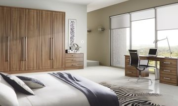 Light Walnut Bedroom Doors - By BA Components