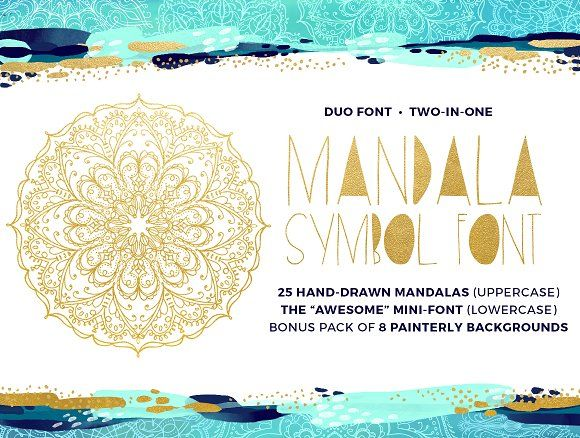 Mandala Symbols Font by Lianne Tokey Illustration on @creativemarket