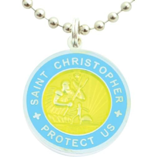 Get Back Supply St. Christopher Surf Medallion Necklace as seen on Blake Lively