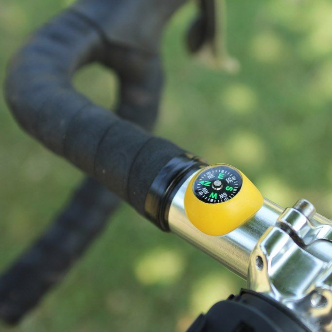 Ben cycles around #London a fair bit, but he has a terrible sense of direction and an awful memory... so he #Sugru-ed a compass to the handlebars of his #bike!  A quicker and safer option to checking his phone - now he always has a rough idea of where he's heading :) #DIY #DIYproject #doityourself #cycle #cycling #bikes #compass #travel
