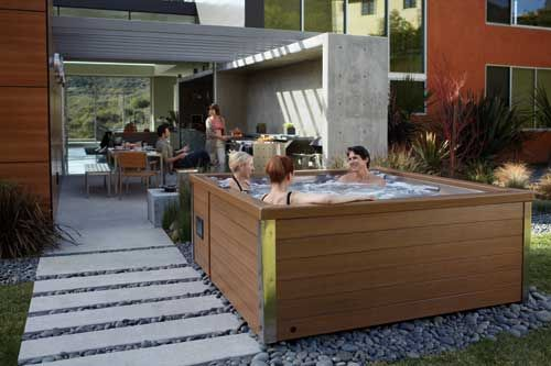 1000 images about built in hot tub on pinterest portable pools sexy hot and blog. Black Bedroom Furniture Sets. Home Design Ideas