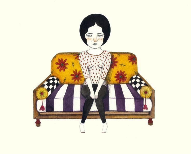#nanì #woman #donna #loneliness #solitudine #sofa #divano
