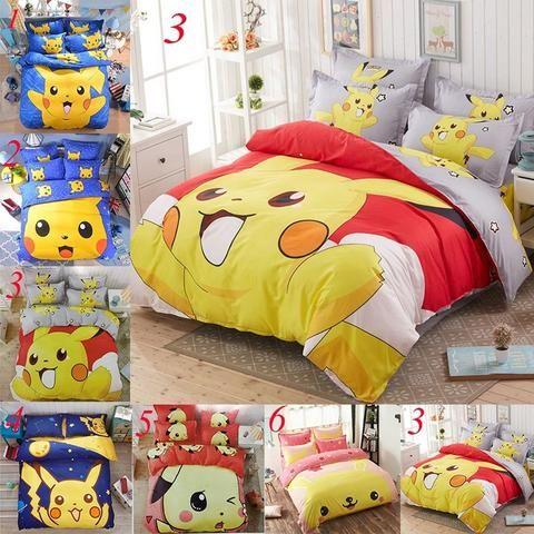 Pikachu Bedding Set Bedding Set Pokemon Room Bed