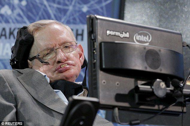 Stephen Hawking (pictured) starred in a the 25 minute film 'Stephen Hawking's Favorite Places' where traveled to a planet 16 light years away, Gliese 832c, which he says could be home to intelligent life