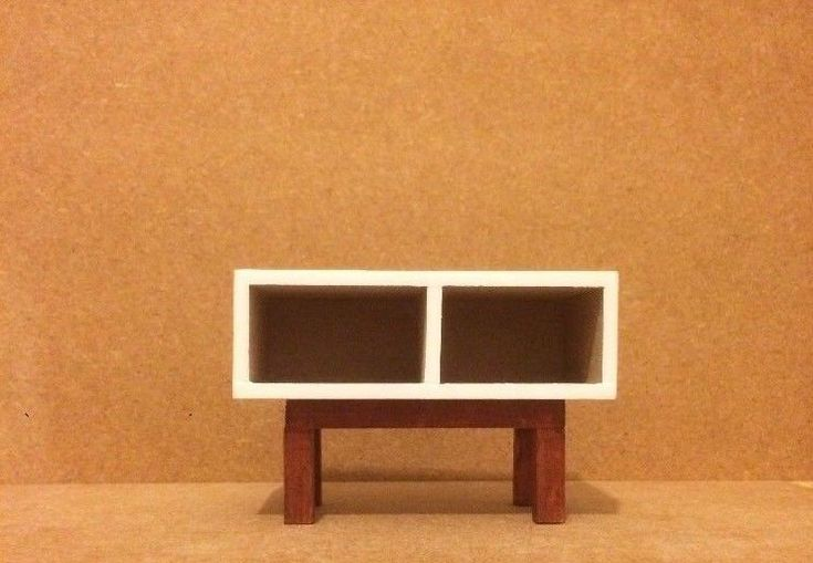 12th scale, Miniature, Modern, Handmade, Dollhouse, Media storage unit, Dollhouse furniture http://etsy.me/2oRCU1W #toys #dollhousefurniture #dollhouse #furniture #miniaturefurniture #miniature #handmade #modern #m #etsyseller