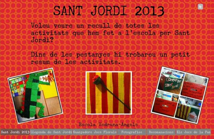Recull Sant Jordi 2013 http://vedruna-angels.org/blocs/lectura/2013/04/30/1647/
