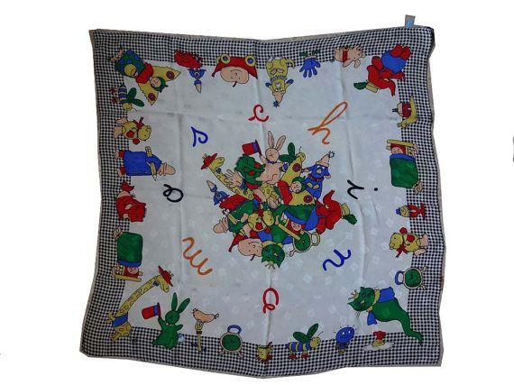 Moschino Vintage silk scarf circa 1990 di Leschosesdemanu su Etsy