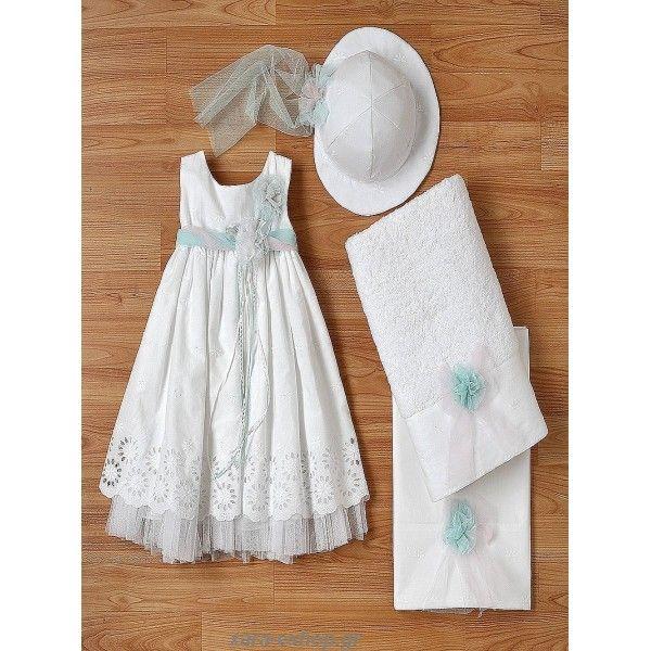 Φόρεμα βαπτιστικό New Life από βαμβακερό μπροντερί με τούλινη ζώνη και λουλούδια, Βαπτιστικά ρούχα κορίτσι επώνυμα και οικονομικά, Βαπτιστικό φόρεμα οικονομικό-προσφορά, Επώνυμα βαπτιστικά φορέματα τιμές, Βάπτιση φορεματάκια eshop