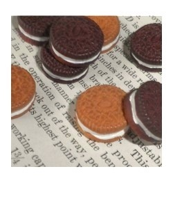 Mini Oreo Cabochons (pack of 6)   AUD $4.50 www.etsy/shop/luckydiphandmade