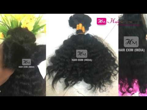 Single Drawn Bulk Natural Hair India Human Hair Extension Wholesale Natu...