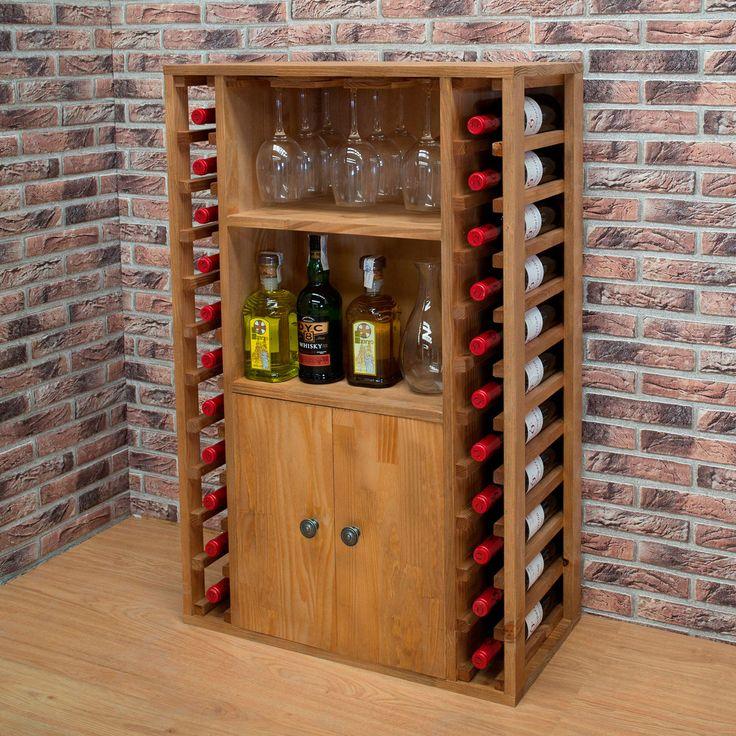 Weinregal PROVINALIA aus Holz auch als Einzelstück / Sideboard verwendbar.