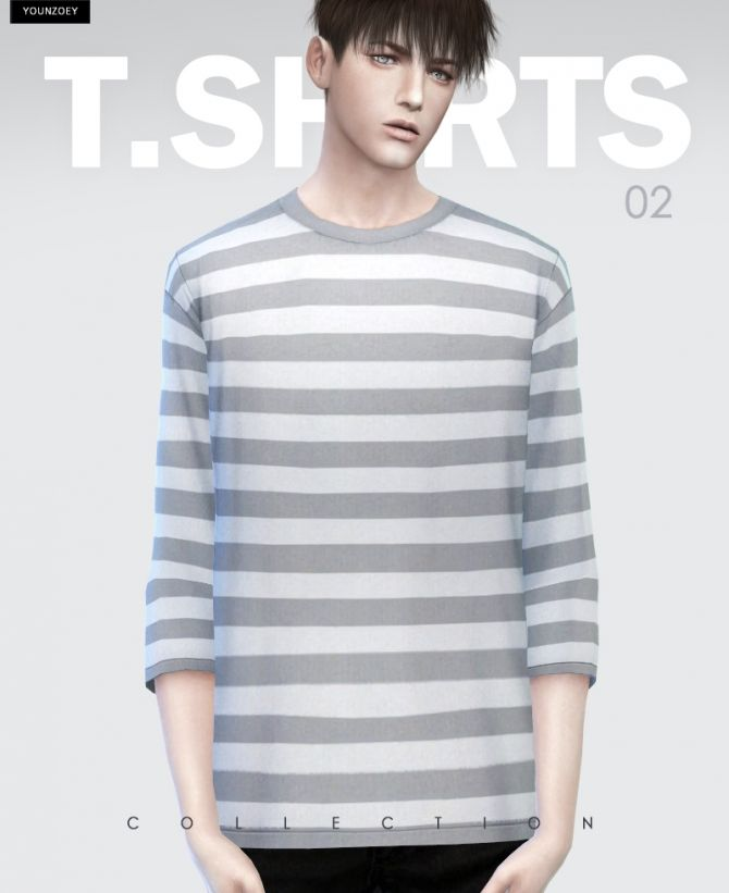 T-shirts 02 at Younzoey via Sims 4 Updates