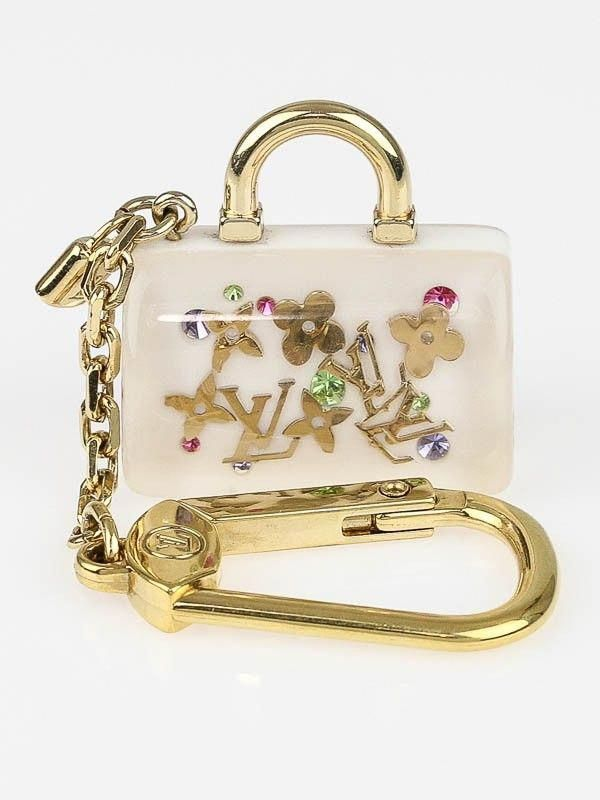 fc14090caa3a Louis Vuitton White Inclusion Speedy Key Holder and Bag Charm   Louisvuittonhandbags