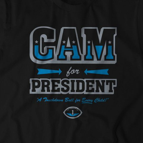 In this tumultuous campaign season, one leader has risen above the rest: Cam Newton. And if elected, the Carolina Panther's Quarterback promises a Touchdown Football for *every* child.