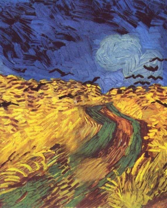 'Вороны над пшеничным полем' Ван Гог