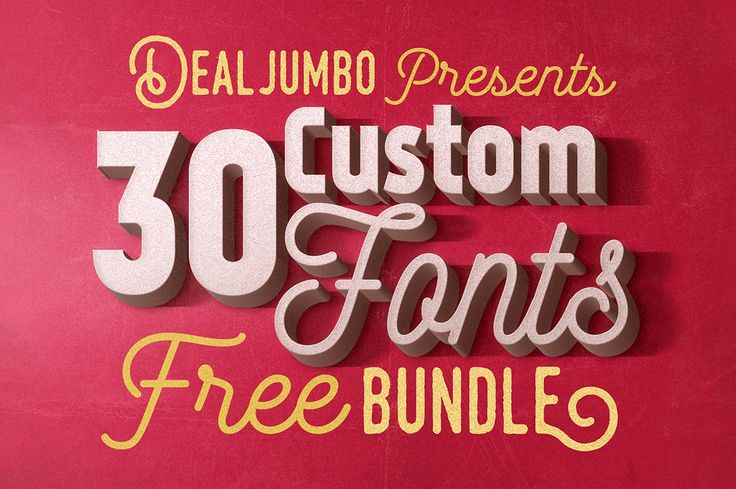 Dealjumbo Free Bundle vol.5 – 30 Custom Fonts for personal or commercial use!