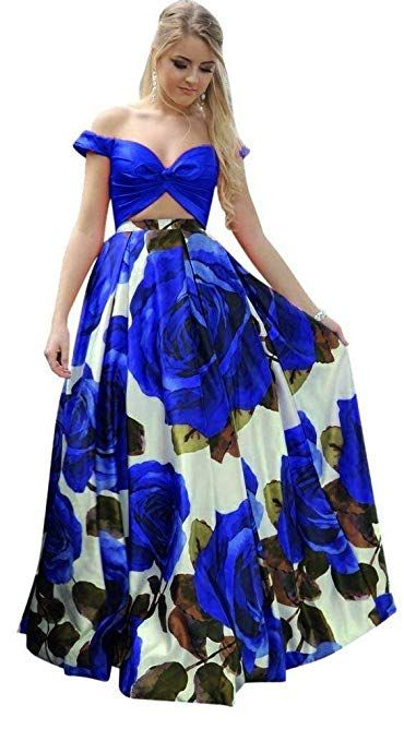03613337326f Womens Floral Prom Evening Dresses 2019 Long Pockets Formal Party Gown ...Fabric: