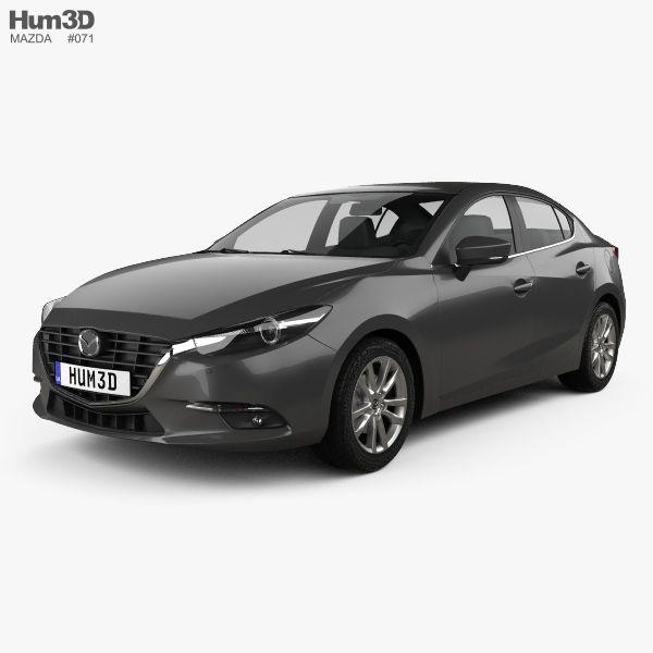 Mazda 3 sedan 2017 3d model from Hum3D.com.