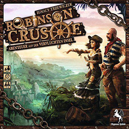 Pegasus Spiele 51945G - Robinson Crusoe - Abenteuer auf der Verfluchten Insel, das vielleicht beste kooperative klassische Strategiespiel! Spieler: 1-4 Dauer: 1-2h