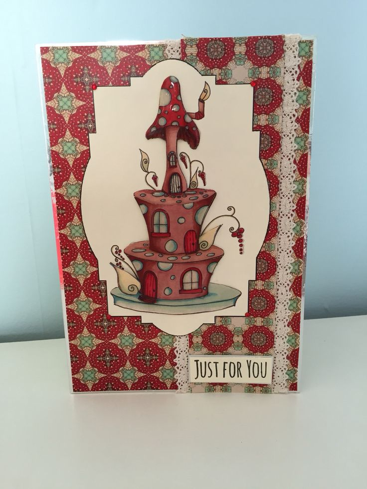 Just for you card made with house of zandra decoupage.