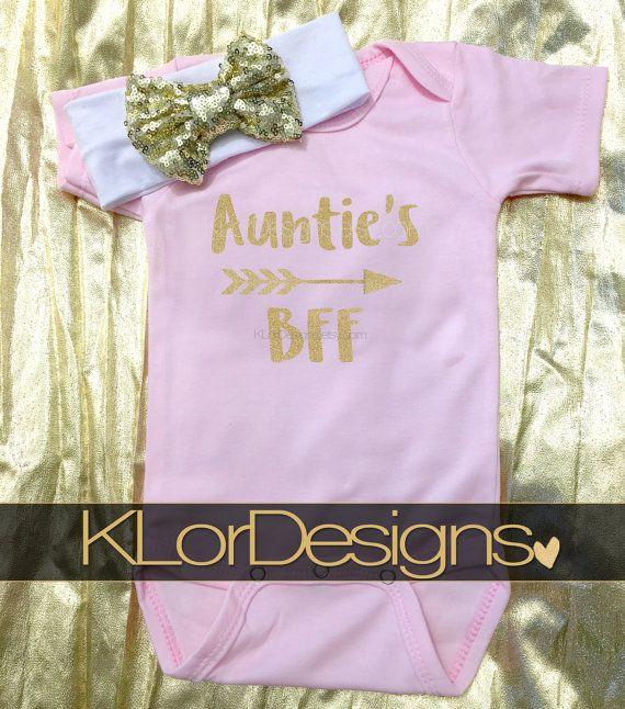 Auntie is my Bestie onesie Baby Girl onesie Auntie's BFF