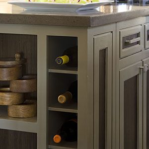 There's an awkward end-of-the-kitchen-cupboard space in the kitchen right now where the counter overhangs.  I'd like to add some clever storage like this to it.