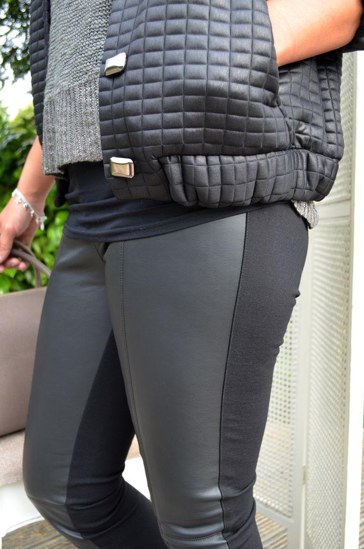 Lorena Sarbu coat £115, Culture Jumper £60, Forever Unique Trousers £70, Bracelet Hult Quist £36, Necklaces £30 and (Pendent) £24, Real Leather Bag £85,