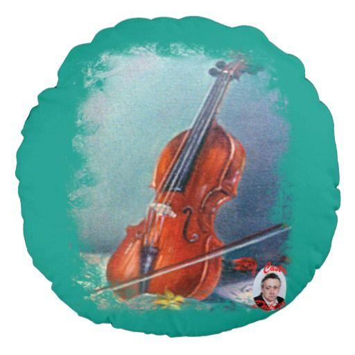 Violín/Violin Cojín Redondo
