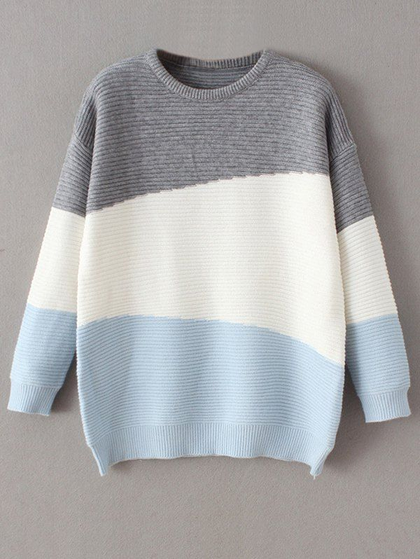 $31.99 Oversized Comfy Sweater - BLUE ONE SIZE