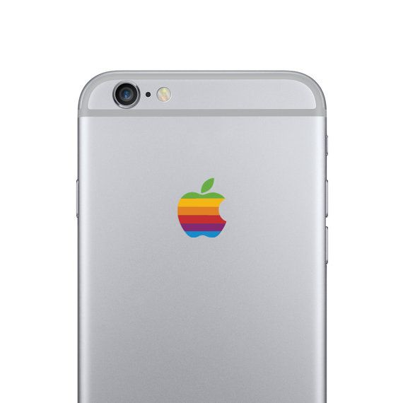 Apple iphone 6 retrò logo decal di kellokult su etsy