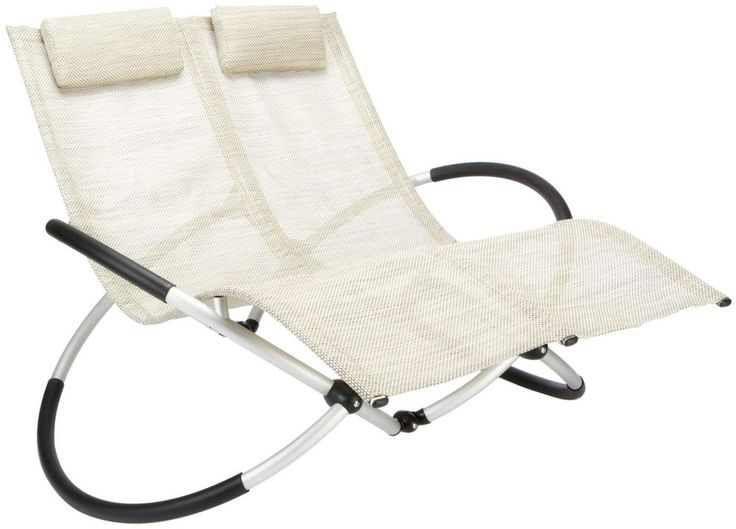 Garden Rocking Chair Double Sun Lounger Folding Patio Seat Recliner Portable New  sc 1 st  Pinterest & 17 best Lawn Chairs images on Pinterest | Outdoor furniture ... islam-shia.org