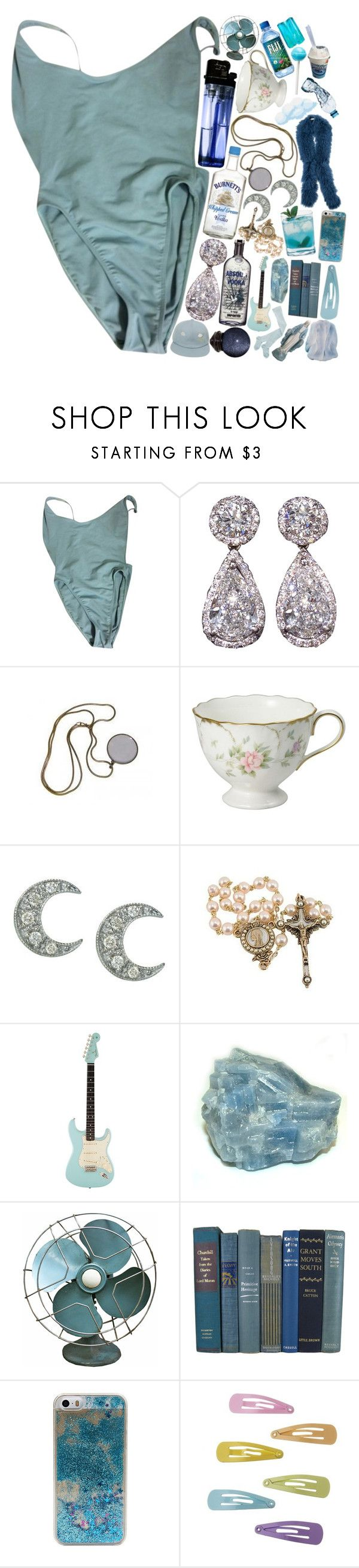 """""""baby blue."""" by kaninekiller ❤ liked on Polyvore featuring American Apparel, Sydney Evan and Blue Mojito"""