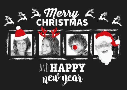 Een kerstkaar met humor! Je eigen foto's aankleden met onze kerstfiguren. Altijd leuk!   Design: Kaartje2go  Te vinden op: www.kaartje2go.nl  Maak nu jouw eerste kaart gratis op onze website! #DIY #kerstkaarten #verkleden