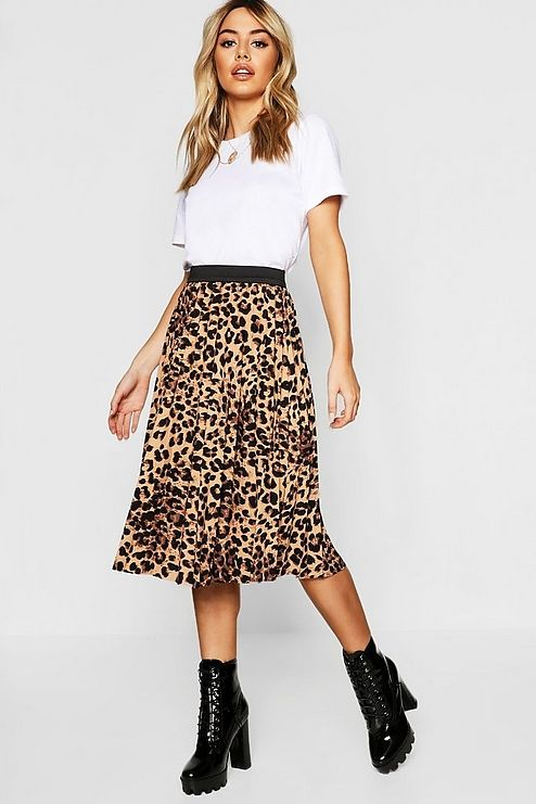 d1364cb7b7 Click here to find out about the Petite Leopard Print Satin Wrap Midi Skirt  from Boohoo, part of our latest Date Night Outfits collection ready to shop  ...