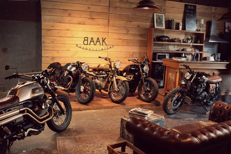 BAAK's showroom is a bit overwhelmed with bikes.