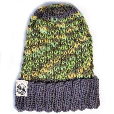 典(nori) nature handwork - 手編みニット帽 グリーン系1 - SNOVERCAST (スノーヴァーキャスト) オンラインセレクトショップ
