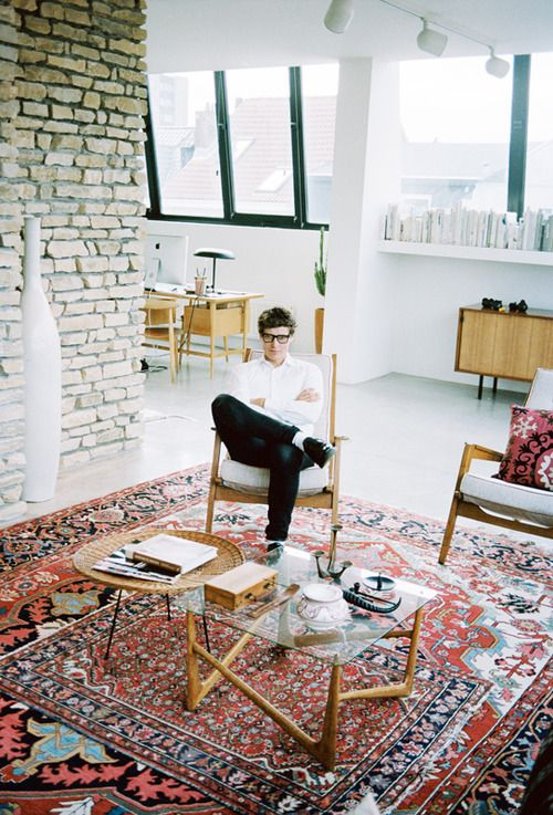 quentindebriey:  A portray of designer Bruno Pieters at home I...