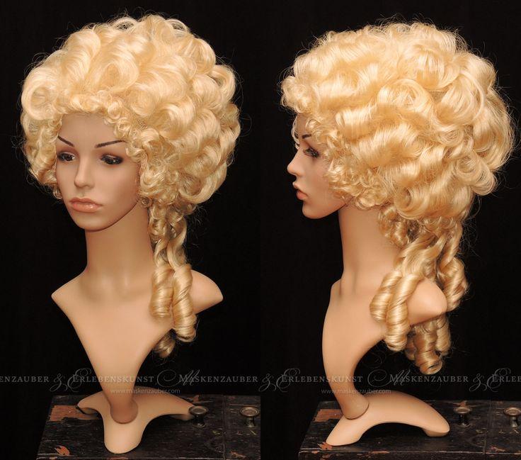 Rokoko-Perücke Marie-Antoinette Historische Perücke Barock Karneval Fasching Locken-Perücke Blond von Maskenzauber auf Etsy