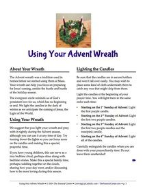 using your advent wreath