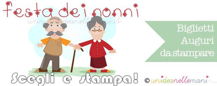 biglietto auguri festa dei nonni, biglietto da stampare nonni,