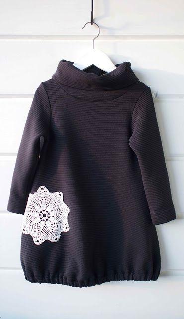 "Liljan Lumo: ""Lumihiutale"" -mekko ""Snowflake"" dress made by Tiina Lilja/ Liljan Lumo. Fabric from Marimekko and pattern by Pikku Piltti ""Ruska"" dress."