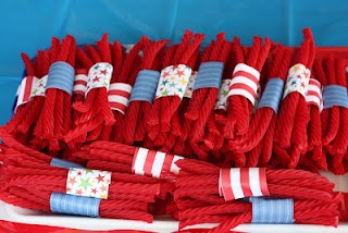 4th of July party & 1st birthday party ideas. Kids loved being able to just grab a few... easy to make.